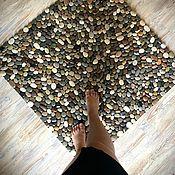 Для дома и интерьера handmade. Livemaster - original item Carpets: Natural carpet made of sea pebbles