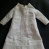 Куклы и игрушки ручной работы. Ярмарка Мастеров - ручная работа Антикварное белое платье на куколку. Handmade.