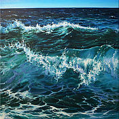 "Картины и панно handmade. Livemaster - original item Sea oil painting on canvas - "" sea wave"". Handmade."