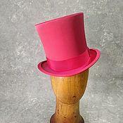 Аксессуары handmade. Livemaster - original item Top hat pink satin