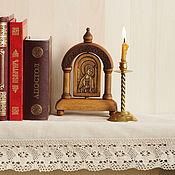 """Картины и панно ручной работы. Ярмарка Мастеров - ручная работа """"Ангел-Хранитель""""- настольная икона в киоте.. Handmade."""