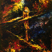 Картины и панно manualidades. Livemaster - hecho a mano Abstract original oil painting on canvas Loneliness impasto. Handmade.
