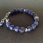 Украшения handmade. Livemaster - original item Men`s bracelet made of silver and lapis lazuli.. Handmade.