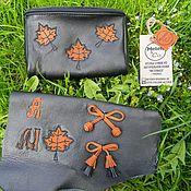 Сумки и аксессуары handmade. Livemaster - original item Cosmetic bag leather. Handmade.