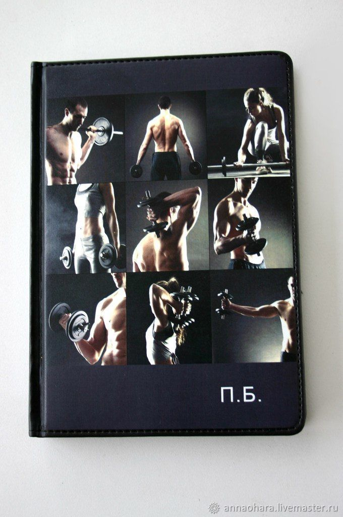 Fitness instructor's diary a Gift for an athlete Notepad, Diaries, St. Petersburg,  Фото №1