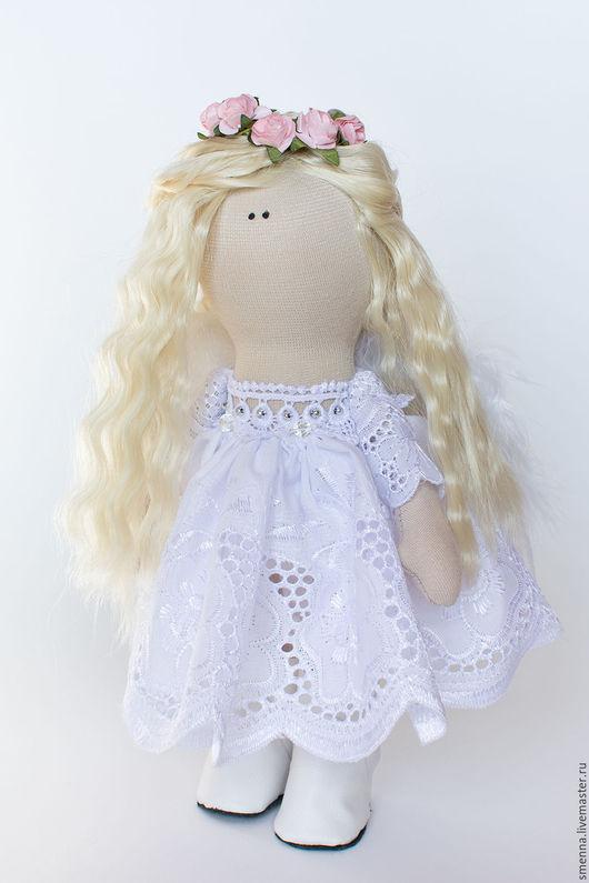 Коллекционные куклы ручной работы. Ярмарка Мастеров - ручная работа. Купить Интерьерная кукла. Handmade. Белый, авторская игрушка, синтепух
