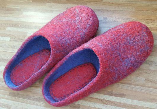 """Обувь ручной работы. Ярмарка Мастеров - ручная работа. Купить Тапочки """"Иней"""". Handmade. Тапочки ручной работы, шерсть"""