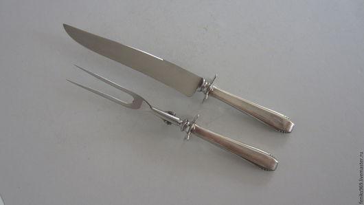 Винтажная посуда. Ярмарка Мастеров - ручная работа. Купить Сервировочный сет-вилка и нож.. Handmade. Серебряный, винтаж