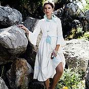 Одежда ручной работы. Ярмарка Мастеров - ручная работа Белое валяное платье с рукавами Ламбада. Handmade.