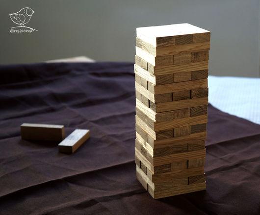 Развивающие игрушки ручной работы. Ярмарка Мастеров - ручная работа. Купить популярная игра Дженга (Jenga)/Башня из древесины дуба. Handmade.