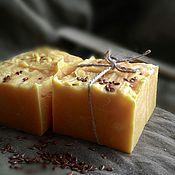 Льняной твердый шампунь  с маслом макадамии.