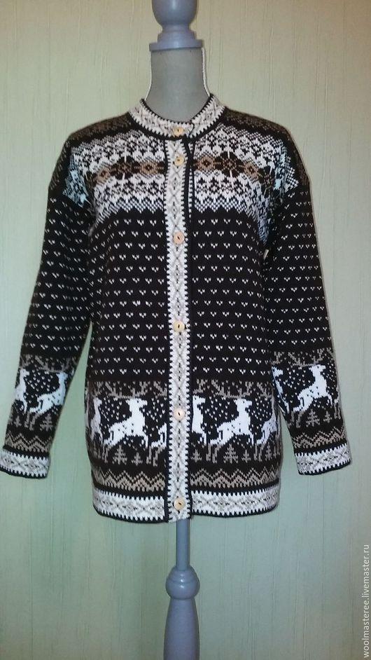 Кофты и свитера ручной работы. Ярмарка Мастеров - ручная работа. Купить Вязаня кофта ручной работы из натуральной шерсти. Handmade.