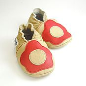 Работы для детей, handmade. Livemaster - original item Baby Moccasins, Newborn Slippers,Flowers Baby Shoes,Ebooba. Handmade.