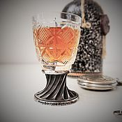 Shot Glasses handmade. Livemaster - original item The glass crystal BORISOVSKOE 40 ml of the Gift on February 23.. Handmade.