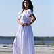 """Платья ручной работы. Ярмарка Мастеров - ручная работа. Купить Костюм """"Оригинальный"""". Handmade. Белый, платье летнее, платье длинное"""