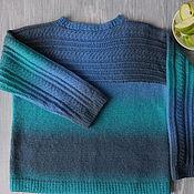Одежда ручной работы. Ярмарка Мастеров - ручная работа Свитер из шерсти разноцветный Аква. Handmade.