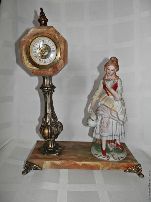 Винтажные предметы интерьера. Ярмарка Мастеров - ручная работа. Купить Винтажные  часы  со статуэткой. Handmade. Часы, уютный подарок