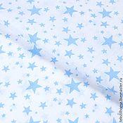 Материалы для творчества ручной работы. Ярмарка Мастеров - ручная работа Бязь со звездами. Handmade.