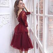 """Одежда ручной работы. Ярмарка Мастеров - ручная работа """"Cherry"""" коктейльное платье. Handmade."""