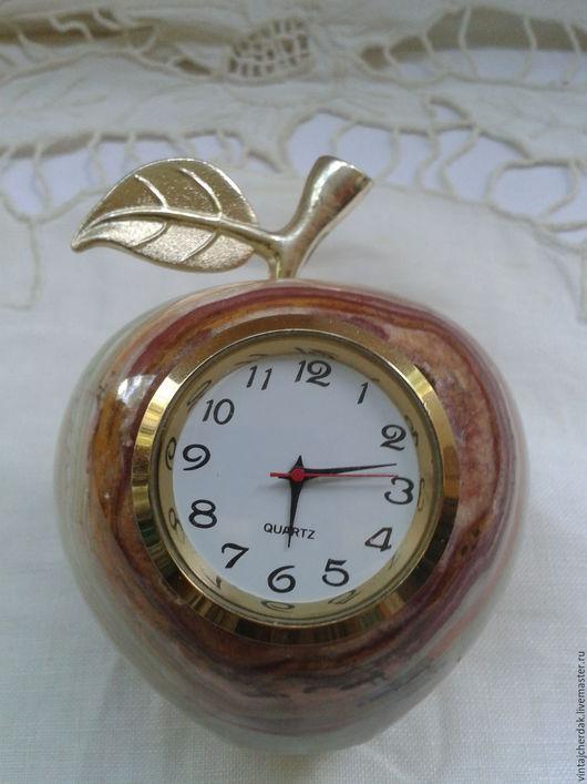 Винтажные предметы интерьера. Ярмарка Мастеров - ручная работа. Купить Часы Яблоко оникс. Handmade. Комбинированный, камень натуральный, винтаж