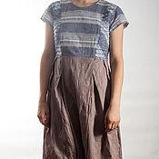 Одежда ручной работы. Ярмарка Мастеров - ручная работа Платье из двух тканей.. Handmade.