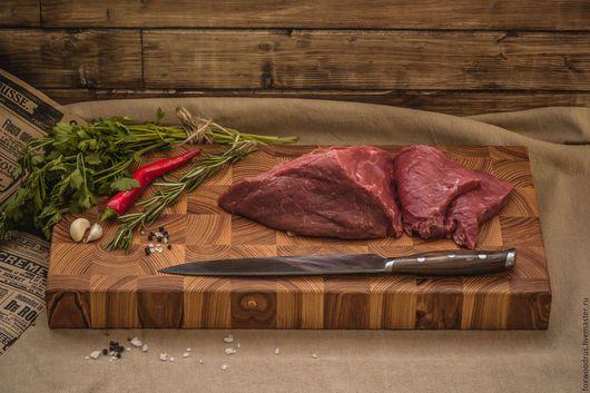 Кухня ручной работы. Ярмарка Мастеров - ручная работа. Купить Большая торцевая разделочная доска из ясеня. Handmade. Рыжий