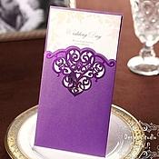 """Свадебный салон ручной работы. Ярмарка Мастеров - ручная работа Приглашение """"Фиолет"""".. Handmade."""