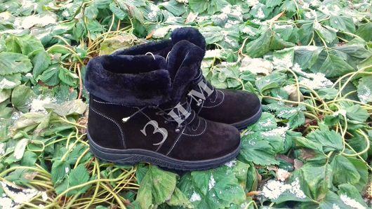 Обувь ручной работы. Ярмарка Мастеров - ручная работа. Купить Ботинки женские короткие С-900. Handmade. Черный, обувь