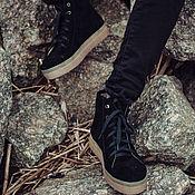 Обувь ручной работы. Ярмарка Мастеров - ручная работа Кеды Trend Black. Handmade.