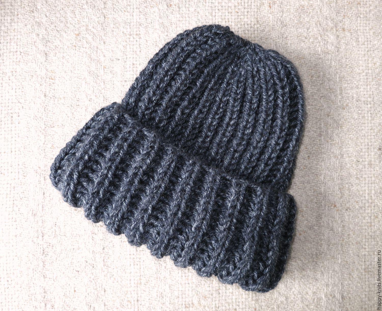 Схема вязания объемной шапки с отворотом фото 970