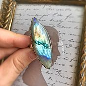 Украшения handmade. Livemaster - original item Ring with fascinating Labradorite. Handmade.