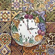 Для дома и интерьера ручной работы. Ярмарка Мастеров - ручная работа Роспись фарфора Часы - тарелка Дольче вита. Handmade.