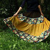 """Одежда ручной работы. Ярмарка Мастеров - ручная работа Вельветовая юбка """"Хорошее настроение"""". Handmade."""