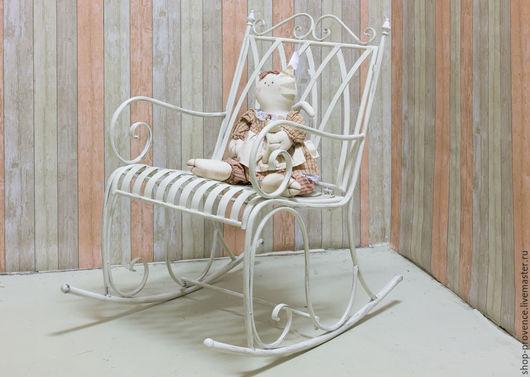 Мебель ручной работы. Ярмарка Мастеров - ручная работа. Купить Кованое кресло качалка. Handmade. Белый, кованые изделия, качалка