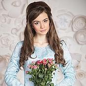 """Одежда ручной работы. Ярмарка Мастеров - ручная работа """"Alice"""" ,кружевная блуза с баской. Handmade."""