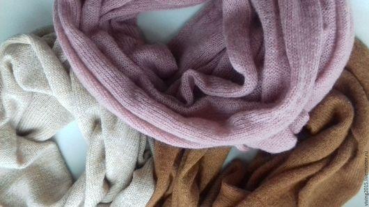 Шарфы и шарфики ручной работы. Ярмарка Мастеров - ручная работа. Купить Большой мохеровый шарф, снуд «Чудо-шарф». Handmade.