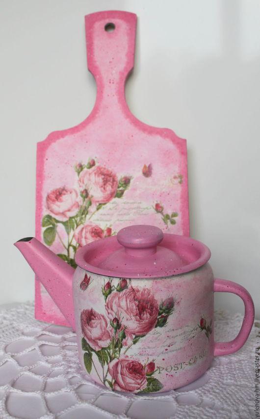 Кухня ручной работы. Ярмарка Мастеров - ручная работа. Купить Набор Розы. Handmade. Розовый, набор, чайник