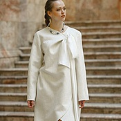 Одежда ручной работы. Ярмарка Мастеров - ручная работа Пальто Белое с бантом. Handmade.