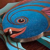 Для дома и интерьера ручной работы. Ярмарка Мастеров - ручная работа Панно «Рыбы цветные». Handmade.