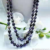 handmade. Livemaster - original item Necklace: Charoite necklace