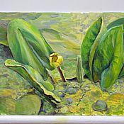 Картины ручной работы. Ярмарка Мастеров - ручная работа Озерная красавица. Handmade.