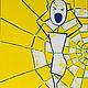 """Символизм ручной работы. Ярмарка Мастеров - ручная работа. Купить Картина """"Истерика"""". Handmade. Желтый, картина для интерьера, картина на холсте"""