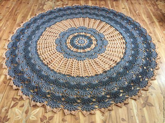"""Текстиль, ковры ручной работы. Ярмарка Мастеров - ручная работа. Купить Ковер крючком """"Biskvit"""". Handmade. Комбинированный, Персиковый цвет"""