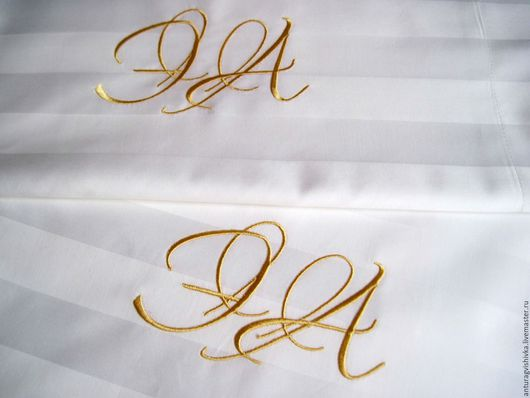 Постельное белье, Комплект постельного белья, Постельные принадлежности, Монограмма, Именная вышивка, Именной подарок