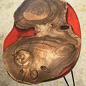 Столы ручной работы. Ярмарка Мастеров - ручная работа Стол кофейный массив карагача.. Handmade.