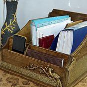 Для дома и интерьера handmade. Livemaster - original item Organizer for folders and papers