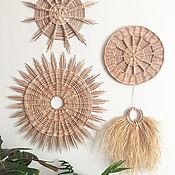 Для дома и интерьера handmade. Livemaster - original item Wicker wall basket, Wicker tray, Wicker panel. Handmade.