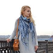 Одежда ручной работы. Ярмарка Мастеров - ручная работа тёплое вязаное платье. Handmade.