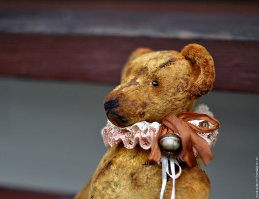Мишки Тедди ручной работы. Ярмарка Мастеров - ручная работа. Купить Олаф. Handmade. Коричневый, старинный стиль, кружево