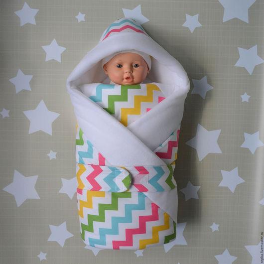 Для новорожденных, ручной работы. Ярмарка Мастеров - ручная работа. Купить Одеяло для малыша. Handmade. Рисунок, подарок новорожденной, выписка